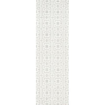 Hudson Light Blue Area Rug Rug Size: Runner 26 x 8
