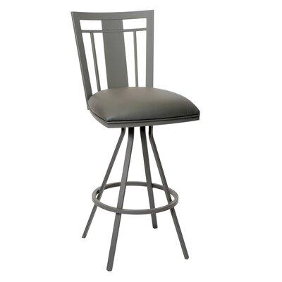 Norridge 26 Swivel Bar Stool Upholstery: Gray