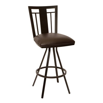 Norridge 26 Swivel Bar Stool Upholstery: Coffee