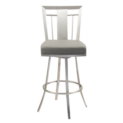 Norridge 30 Swivel Bar Stool Upholstery: Gray