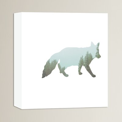 Beckett Fox Tree Graphic Art on Wrapped Canvas Size: 14