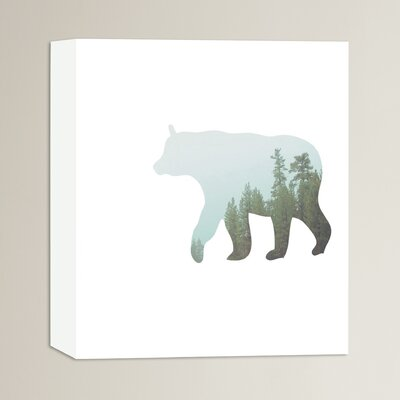 Beckett Bear Trees Graphic Art on Wrapped Canvas Size: 14