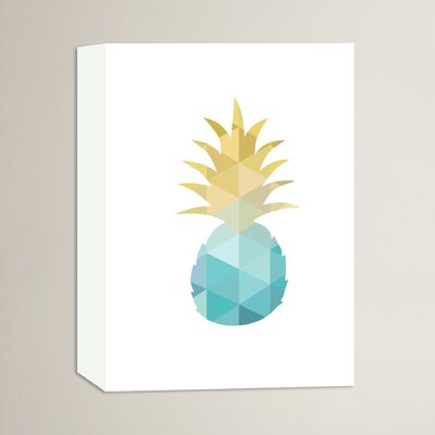 Beckett Pineapple Graphic Art on Wrapped Canvas Size: 14