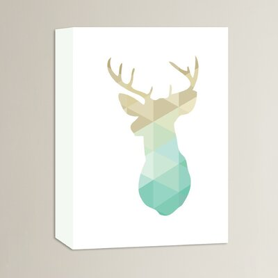 Beckett Deer Graphic Art on Wrapped Canvas Size: 14