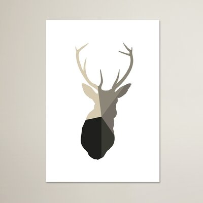 Beckett Deer Head Graphic Art Size: 10