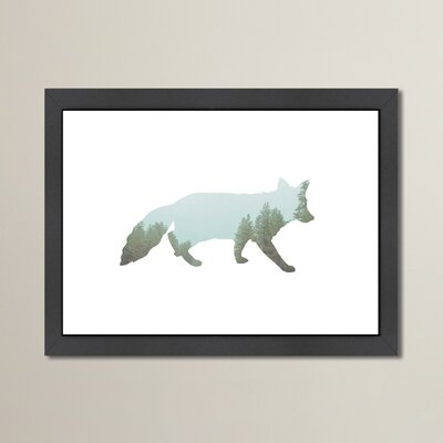 Beckett Fox Tree Framed Graphic Art Size: 10.5