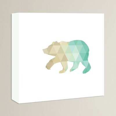 Beckett Mint Gold Bear Graphic Art on Wrapped Canvas Size: 11