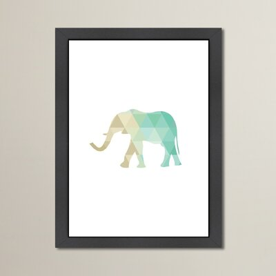 Beckett Mint Gold Elephant Framed Graphic Art Size: 12.5