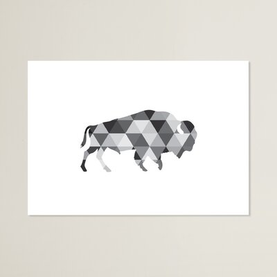 Beckett Geometric Buffalo Graphic Art Size: 11