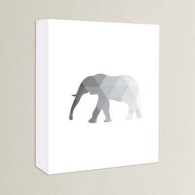 Beckett Elephant Graphic Art on Wrapped Canvas Size: 14