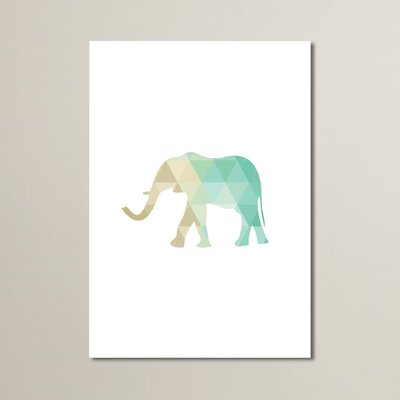 Beckett Mint Elephant Graphic Art Size: 10