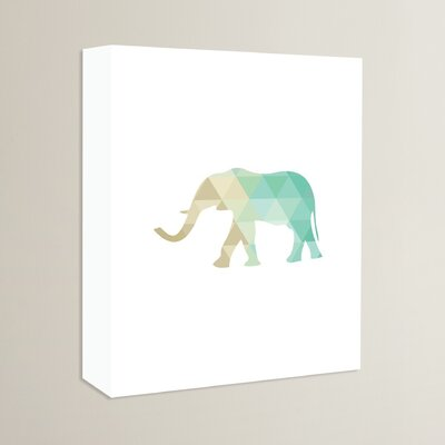 Beckett Mint Elephant Graphic Art on Wrapped Canvas Size: 14