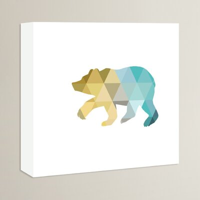 Beckett Bear Graphic Art on Wrapped Canvas Size: 14