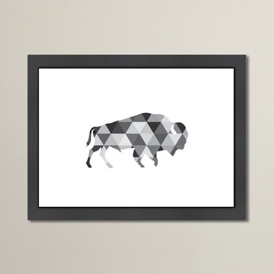 Beckett Geometric Buffalo Framed Graphic Art Size: 10.5