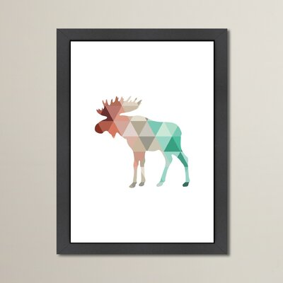 Beckett Mint Coral Moose Framed Graphic Art Size: 12.5