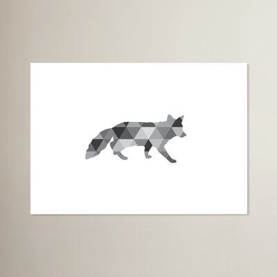 Beckett Geometric Fox Graphic Art Size: 11