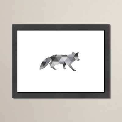 Beckett Geometric Fox Framed Graphic Art