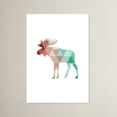 Beckett Mint Coral Moose Graphic Art Size: 10