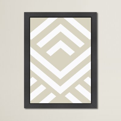 Beckett Beige Aztec Framed Graphic Art Size: 12.5