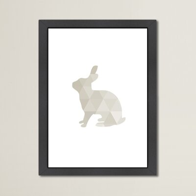 Beckett Rabbit Framed Graphic Art Size: 12.5