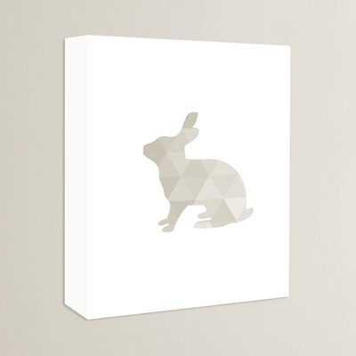 Beckett Rabbit Graphic Art on Wrapped Canvas Size: 14