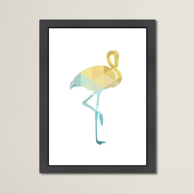 Beckett Flamingo Framed Graphic Art Size: 12.5