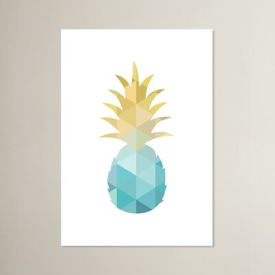 Beckett Pineapple Graphic Art Size: 10