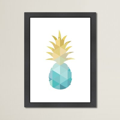 Beckett Pineapple Framed Graphic Art Size: 12.5