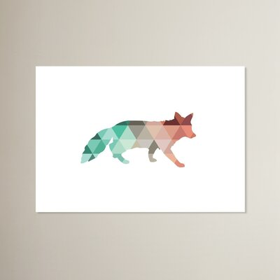 Beckett Coral Mint Fox Graphic Art Size: 11