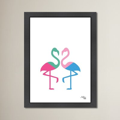 Cabrini Flamingo Two Framed Graphic Art