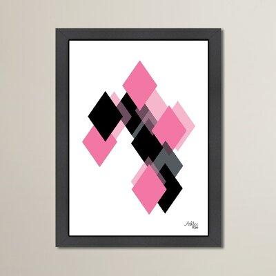 Cabrini Geometric Diamond Framed Graphic Art