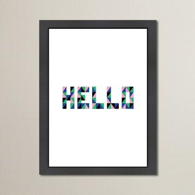 Cabrini Hello Geo Framed Textual Art