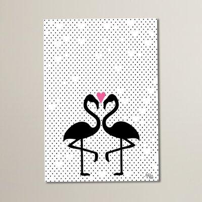 Cabrini Flamingo Love Graphic Art