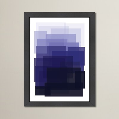 Cabrini Indigo Ombre Framed Graphic Art