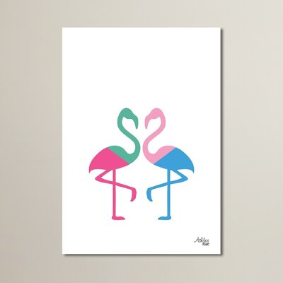 Cabrini Flamingo Two Graphic Art