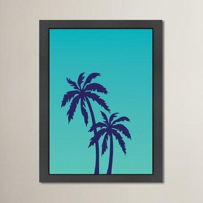Cabrini Palm Tree Framed Graphic Art Size: 12.5
