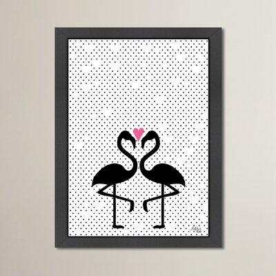 Cabrini Flamingo Love Framed Graphic Art