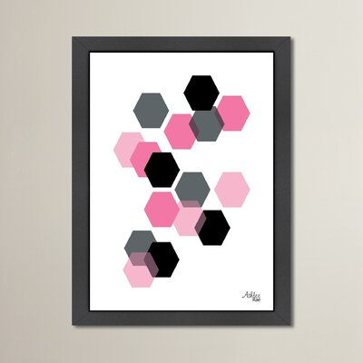 Cabrini Geometric Hexagon Framed Graphic Art