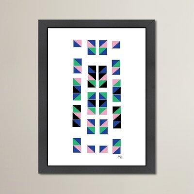 Cabrini Geometric Tracks Framed Graphic Art