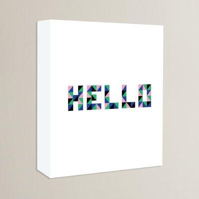 Cabrini Hello Geo Textual Art on Wrapped Canvas
