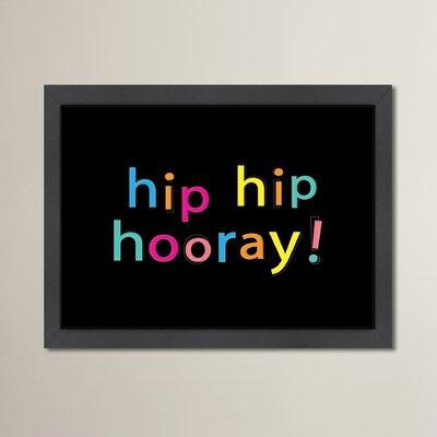 Cabrini Hip Hip Hooray Framed Textual Art