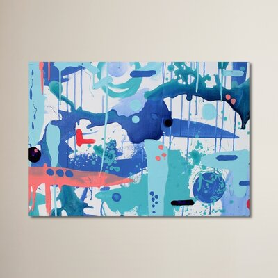 Abstract Drips Painting Print Size: 11