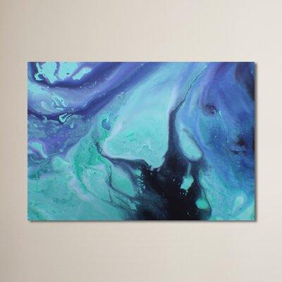 Dark Marble Painting Print Size: 11