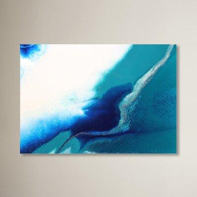 'Aqua' Acrylic Painting Print on Paper Size: 11