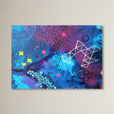 X Marks the Spot Painting Print Size: 11