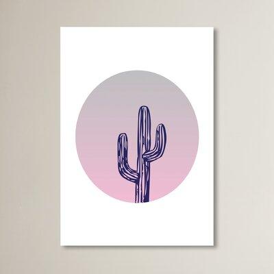 Cabrini Cactus Circle Graphic Art