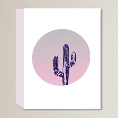 Cabrini Cactus Circle Graphic Art on Wrapped Canvas