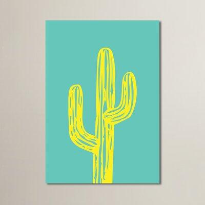 Cabrini Cactus on Teal Graphic Art