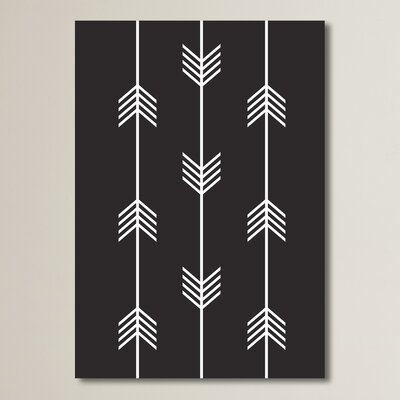 Beckett Three Tribal Arrows Graphic Art Size: 10