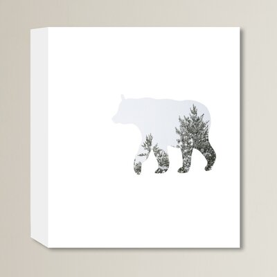 Beckett Winter Bear Graphic Art on Wrapped Canvas Size: 14